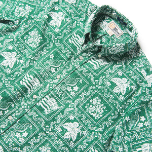 Reyn Spooner Lahaina Sailor / Classic Fit Weekend Wash Button Front in GREEN