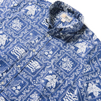 Reyn Spooner Lahaina Sailor BUTTON FRONT in NAVY