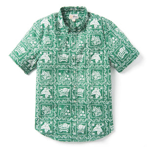 Reyn Spooner Lahaina Sailor / Tailored Fit 2.0 Weekend Wash in GREEN