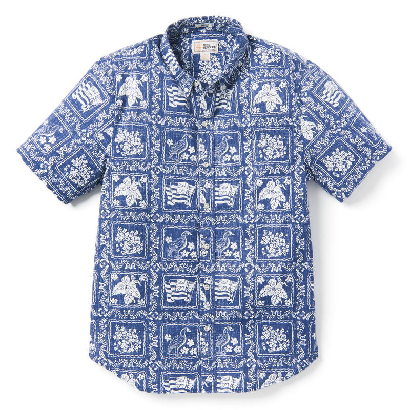 Reyn Spooner Lahaina Sailor TAILORED in NAVY