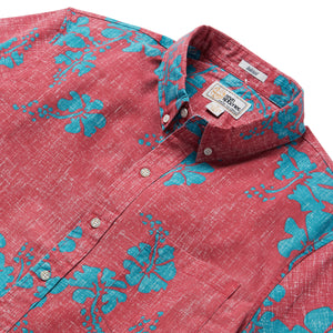 Reyn Spooner 50TH STATE FLOWER TAILORED in RED