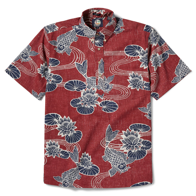 Reyn Spooner Kyoto Ponds Classic Fit Pullover in CRIMSON