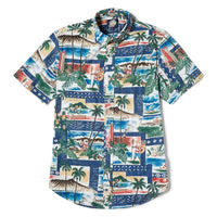 Reyn Spooner Hawaiian Christmas 2018 Weekend Wash Tailored Fit in ROYAL