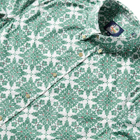 Reyn Spooner Christmas Quilt Tailored Fit Button Front in MINT