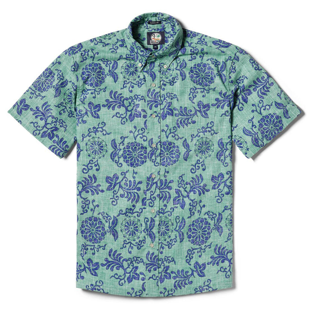 Reyn Spooner Royal Chrysanthemum Classic Fit Button Front in MINT