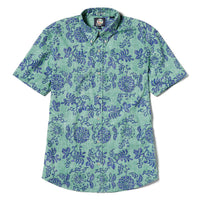 Reyn Spooner Royal Chrysantemums Weekend Wash Tailored Fit in MINT