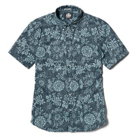 Reyn Spooner Royal Chrysantemums Weekend Wash Tailored Fit in NAVY