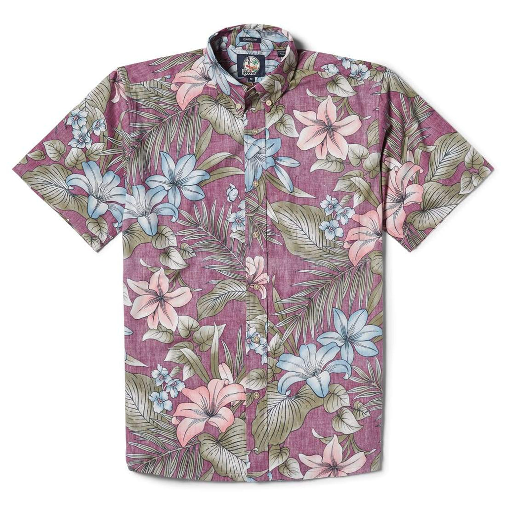 Reyn Spooner Uluwehi Classic Fit Button Front in PLUM