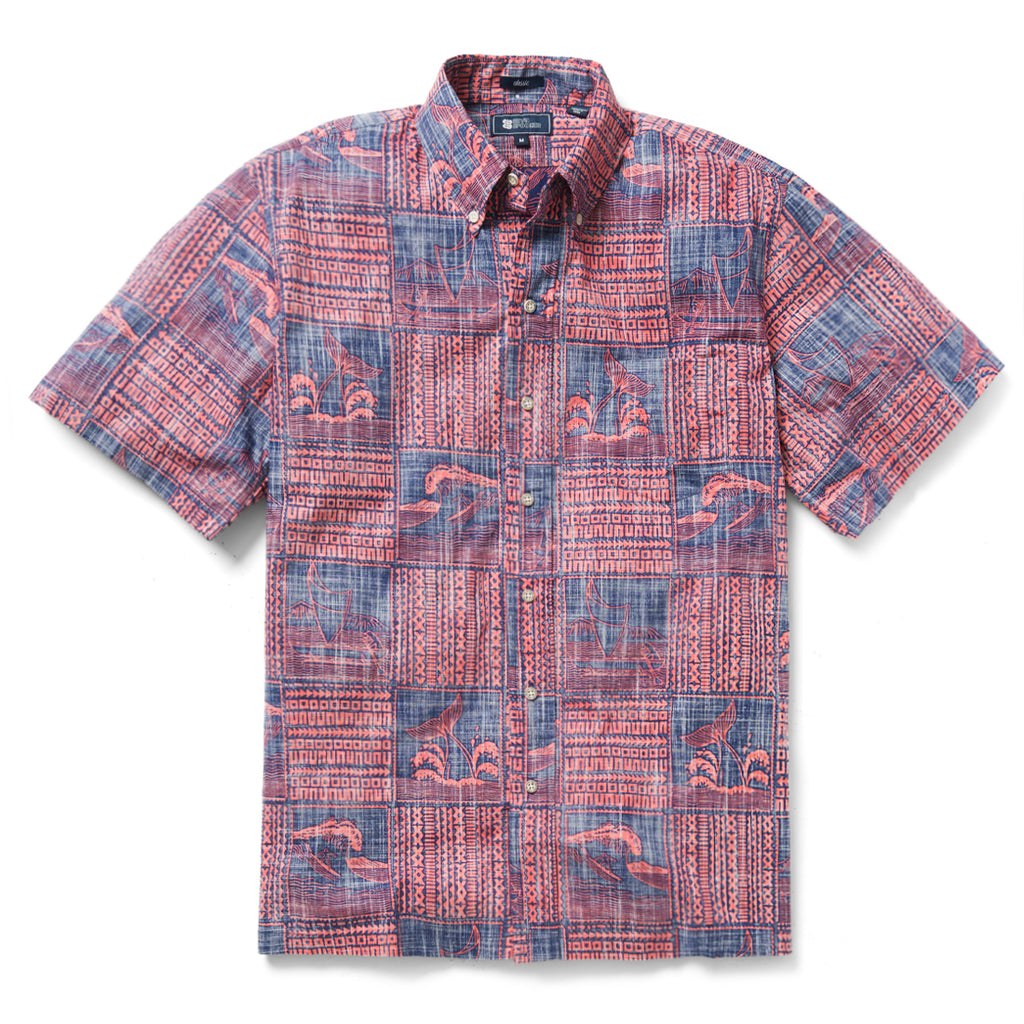 052574c3d Reyn Spooner Oceans Playground Classic Fit Button Front Shirt in INK
