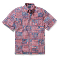 Reyn Spooner Oceans Playground Classic Fit Button Front Shirt in INK
