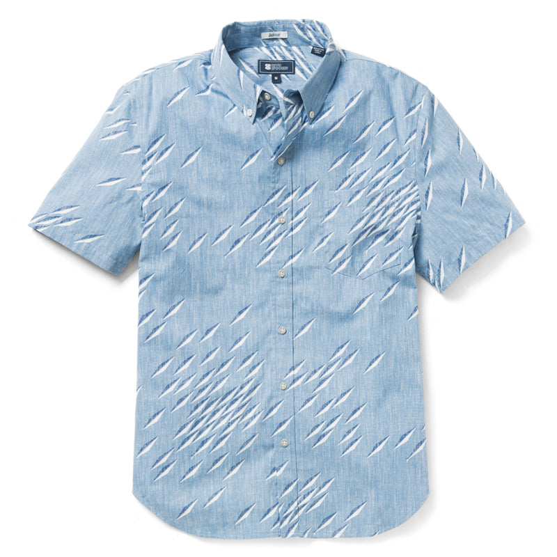Reyn Spooner Fish Swarm Storm Tailored Fit 2.0 Shirt in ALLURE BLUE