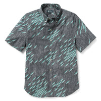 Reyn Spooner Fish Swarm Storm Tailored Fit 2.0 Shirt in OBSIDIAN
