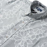 Reyn Spooner Kiku Blossoms Classic Fit Button Front Shirt in OBSIDIAN