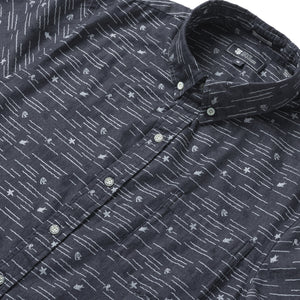 Reyn Spooner Ocean Sea Denim Tailored Fit 2.0 Shirt in INDIGO
