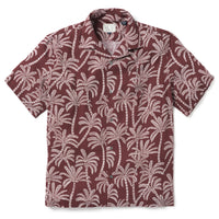 Reyn Spooner Loulu Trail Button Front OXBLOOD RED