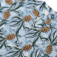 Reyn Spooner Wacky Pineapple Camp Shirt MARSHMALLOW