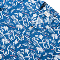 Reyn Spooner Okole Maluna Rayon BUTTON FRONT in DARK BLUE