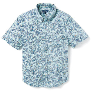 Reyn Spooner WILD FLOWERS ARCHIVE CLASSIC TAILORED FIT PASTEL TURQUOISE