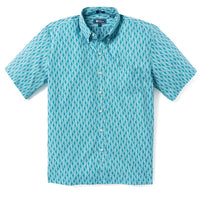 Reyn Spooner TAPA WAVES CLASSIC FIT BUTTON FRONT SHADED SPRUCE