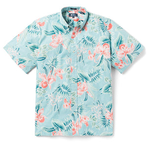 Reyn Spooner ORCHID BLOOM CLASSIC FIT BUTTON FRONT BUTTON FRONT AQUA SEA