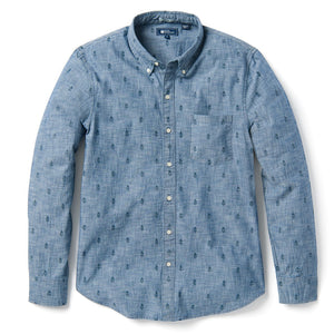 Reyn Spooner MINI NORFOLK PINE TAILORED FIT LONG SLEEVE CHAMBRAY