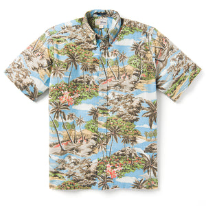 Reyn Spooner Mauna Lani Classic Fit Button Front AIR BLUE