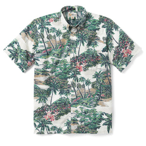 Reyn Spooner Mauna Lani Classic Fit Button Front MARSHMALLOW