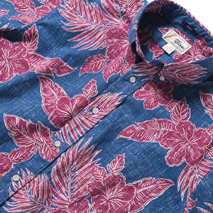 Reyn Spooner Hibiscus Fronds Classic Fit Button Front DARK BLUE