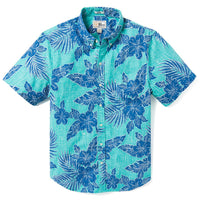 Reyn Spooner HIBISCUS FRONDS TAILORED FIT Tailored Fit CERAMIC
