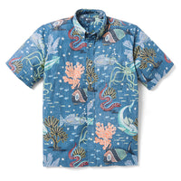 Reyn Spooner DEEP SEA JIVE BUTTON FRONT in DARK BLUE
