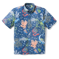 Reyn Spooner DEEP SEA JIVE BUTTON FRONT in DRESS BLUES