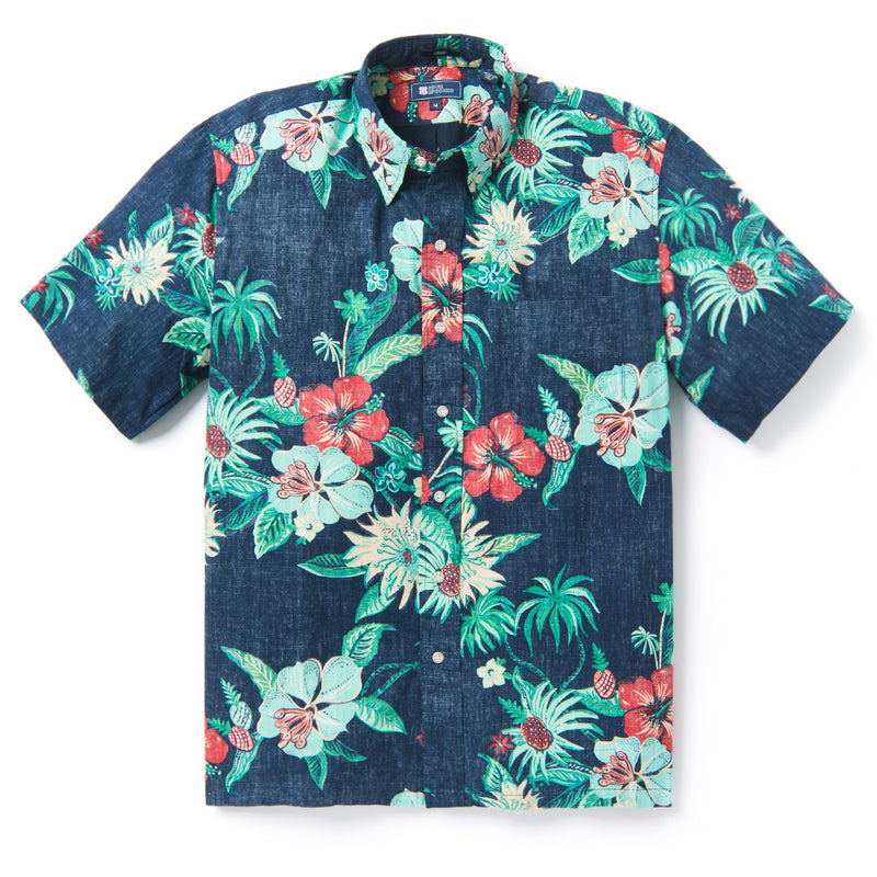 Reyn Spooner HANA IN PARADISE BUTTON FRONT in DRESS BLUES