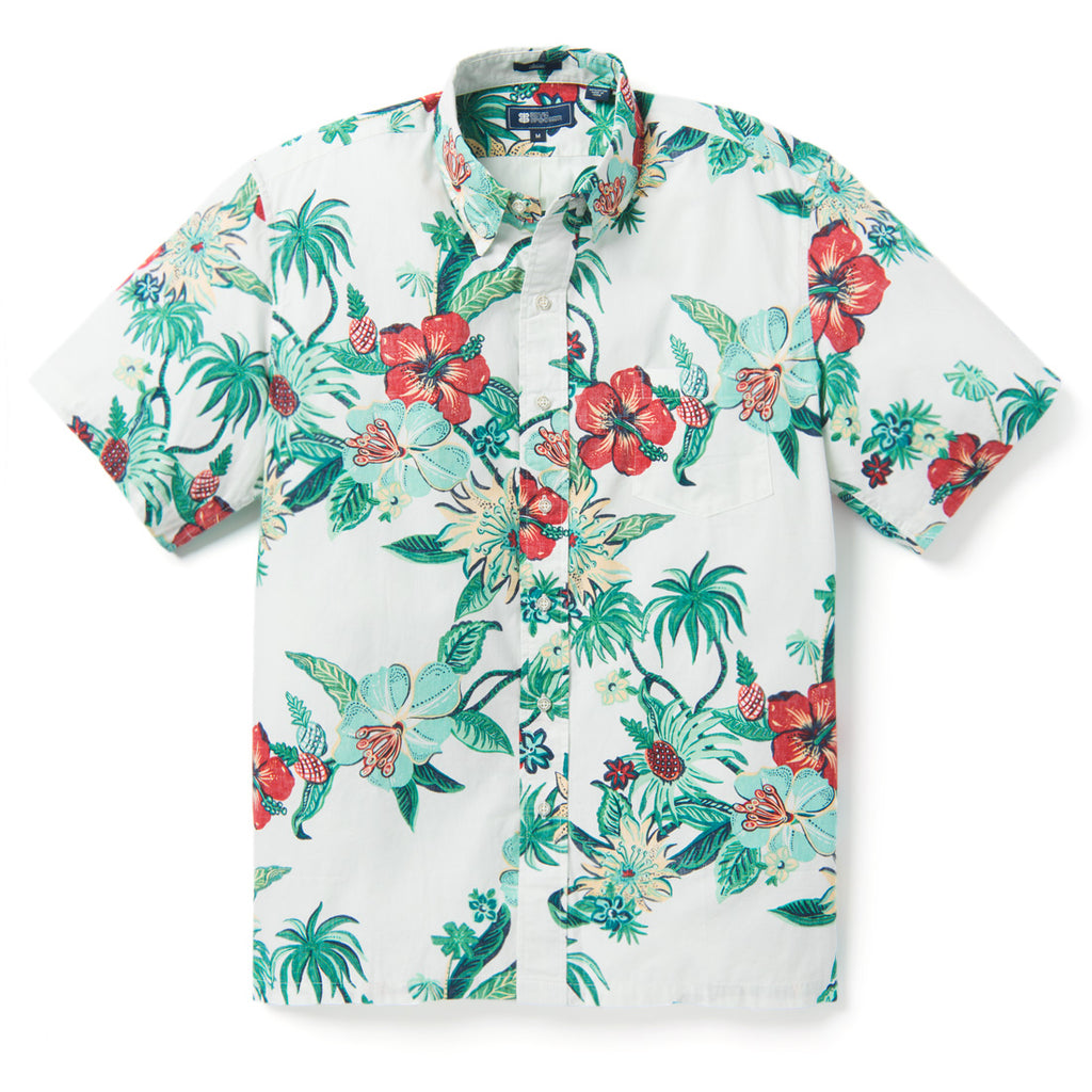 Reyn Spooner HANA IN PARADISE BUTTON FRONT in MARSHMALLOW