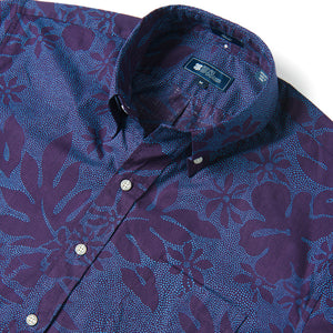 Reyn Spooner DOTTY PUALANI BUTTON FRONT in PURPLE PLUMERIA