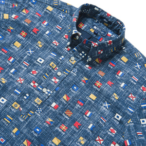 Reyn Spooner CHARLIE FOXTROT ARCHIVE CLASSIC PULLOVER in DRESS BLUES