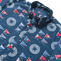 Reyn Spooner YACHTSMAN ARCHIVE CLASSIC BUTTON FRONT in DRESS BLUES