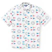 Reyn Spooner YACHTSMAN ARCHIVE CLASSIC BUTTON FRONT in MARSHMALLOW