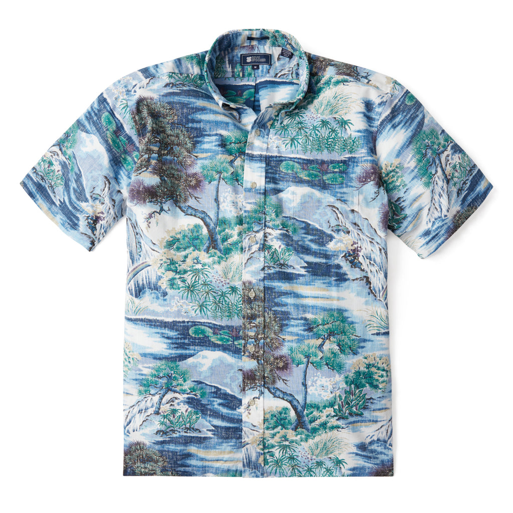 Reyn Spooner NIWAKI BUTTON FRONT in DRESS BLUES