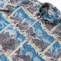 Reyn Spooner HAWAI'I VOLCANOES NATIONAL PARK PULLOVER in ENSIGN BLUE