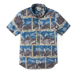 Reyn Spooner HAWAI'I VOLCANOES NATIONAL PARK TAILORED in ENSIGN BLUE