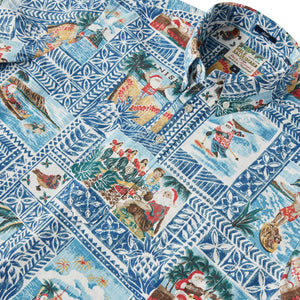 Reyn Spooner HAWAIIAN CHRISTMAS 2020 PULLOVER in ESTATE BLUE