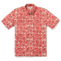 Reyn Spooner YEAR OF THE OX 2021 BUTTON FRONT in POMPEIAN RED