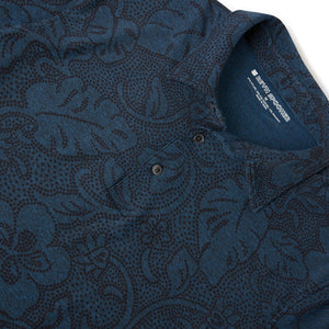 Reyn Spooner DOTTED PAREAU POLO in HEATHER NAVY