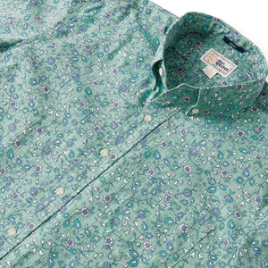 Reyn Spooner BANARAS BUTTON FRONT in LEAF GREEN