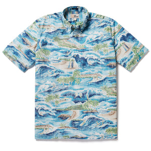Reyn Spooner SURFIN' 808 PULLOVER in ESTATE BLUE