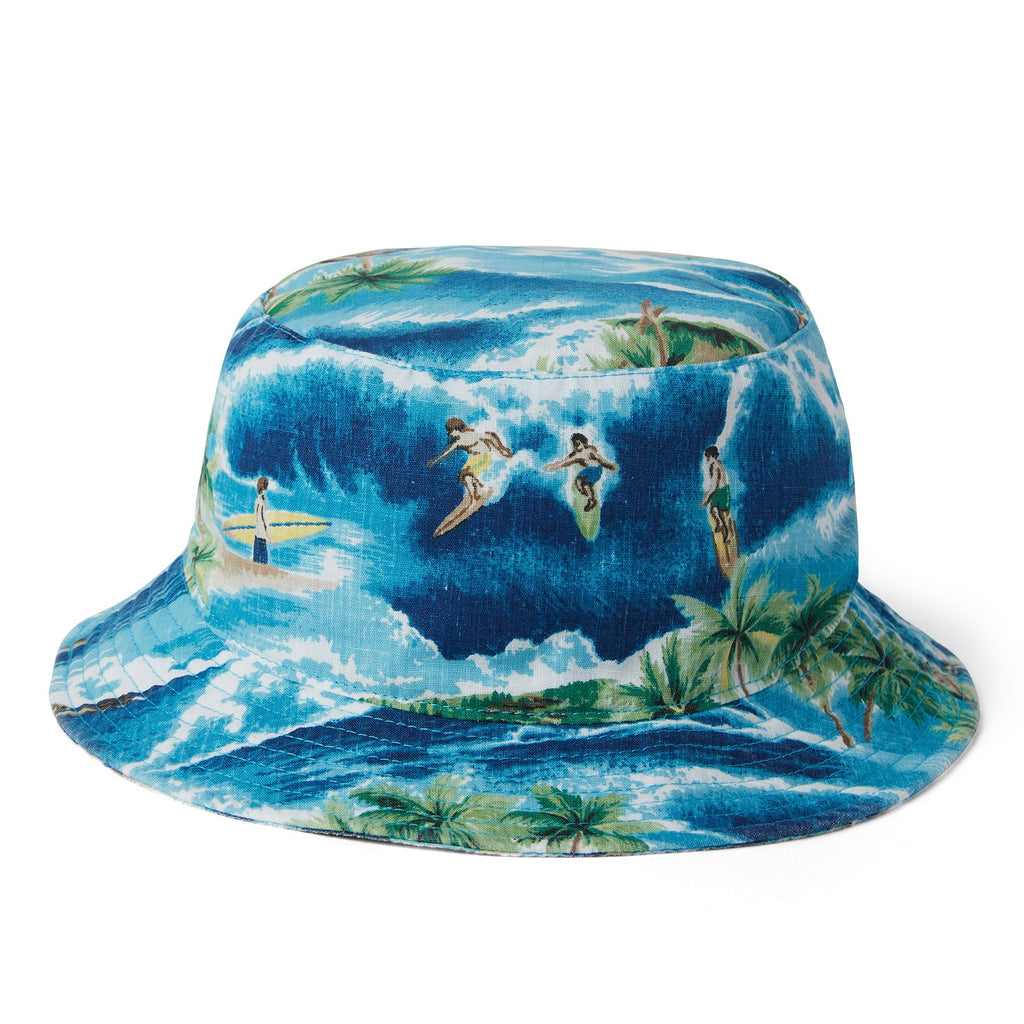 Reyn Spooner SURFIN' 808 BUCKET HAT in ESTATE BLUE