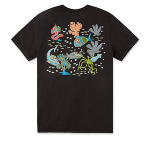 Reyn Spooner DEEP SEA JIVE TEE in BLACK