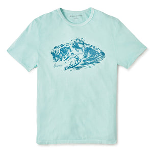 Reyn Spooner REYN SURFER TEE in WASHED MINT