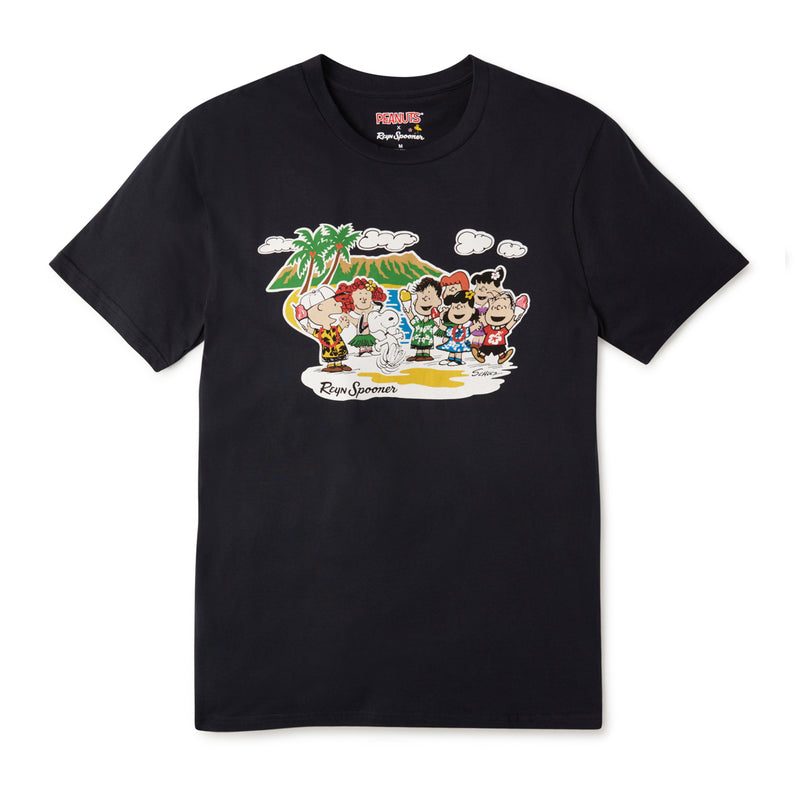 Reyn Spooner PEANUTS IN HAWAII TEE in NAVY