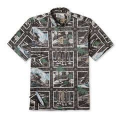 Reyn Spooner Golden Vista Hawaiian Shirt in CHARCOAL